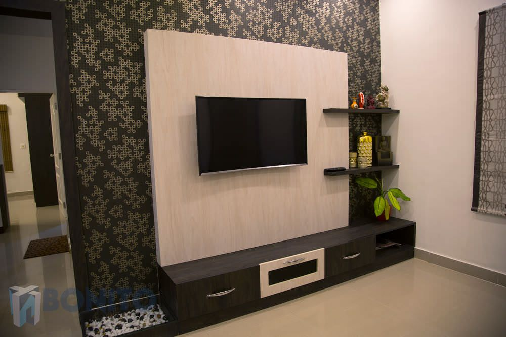 Bonito designs bangalore interior designers in bangalore for Living room tv unit designs
