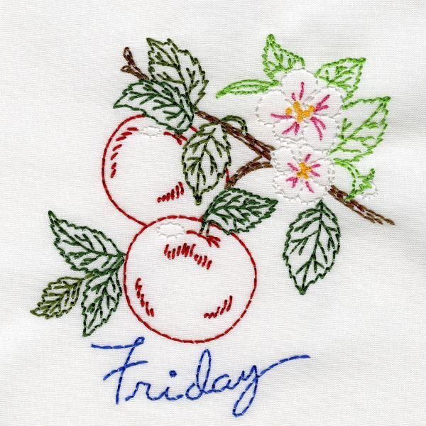 fanciful fruit aunt martha - Google Search | embroidered. felt and ...