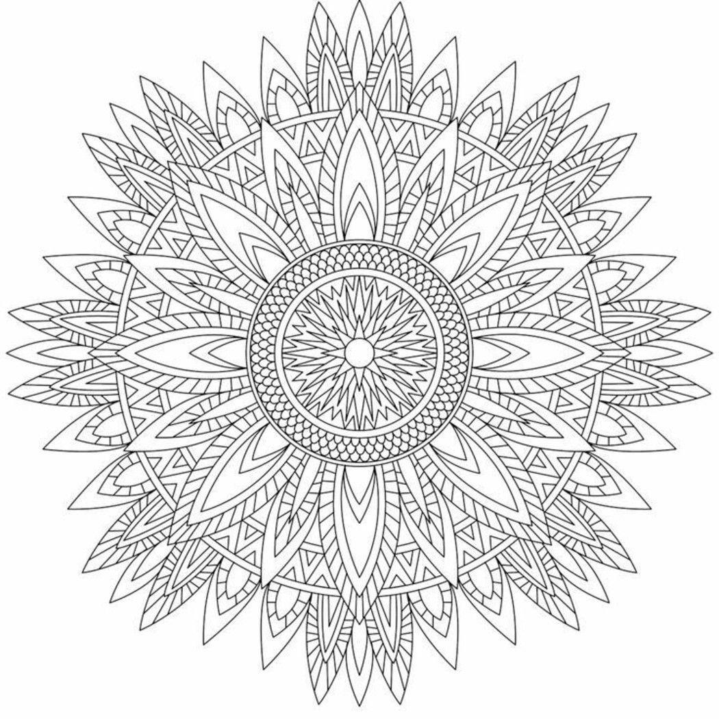Mandala Da Colorare Difficilissimi Pagine Da Colorare Disegni