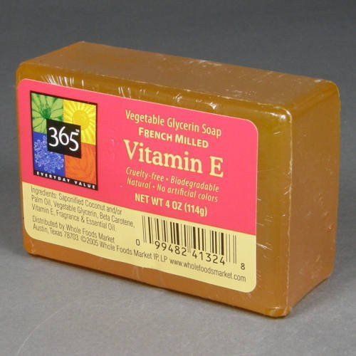 365 Whole Foods Store Brand Vitamin E Soap With Coconut Oil Helps Repair Cell Damage Review Love The Scent And Only Tw Glycerin Soap Vitamin E Food Store