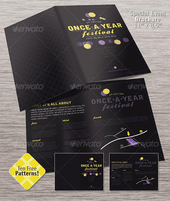 Special Event Brochure  Half Fold  Brochures Business Brochure