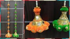 DIY | Pom-Pom Door Hanging | Diwali decoration ideas | Best out of waste - YouTube #diwalidecorationsathome DIY | Pom-Pom Door Hanging | Diwali decoration ideas | Best out of waste - YouTube #diwalidecorations