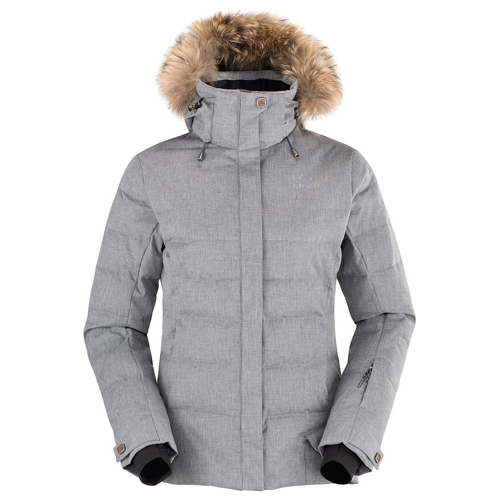 veste de ski femme shibuya grise eider because ski. Black Bedroom Furniture Sets. Home Design Ideas