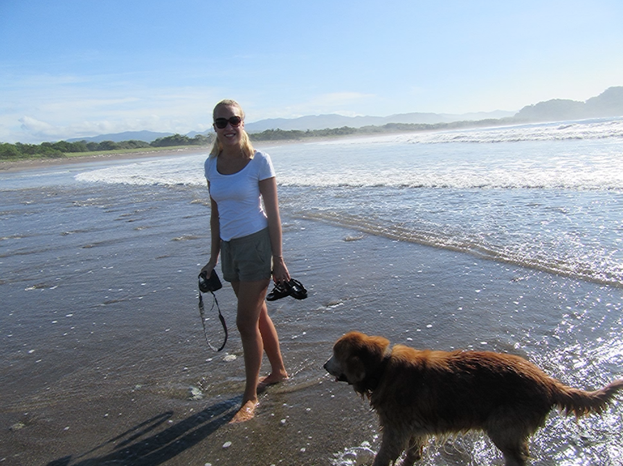 young photographer Costa Rica on beach