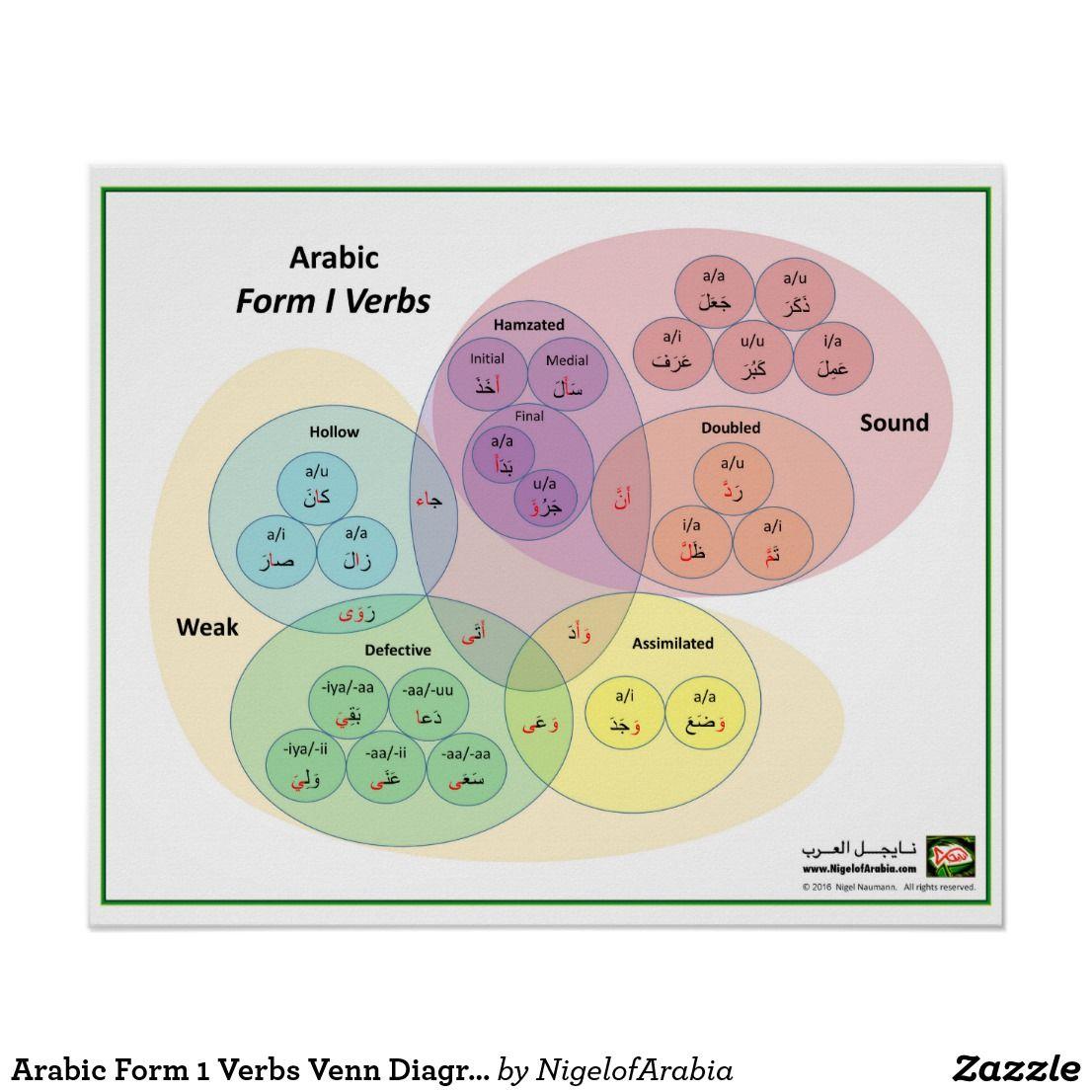 Arabic Form 1 Verbs Venn Diagram Poster | Pinterest