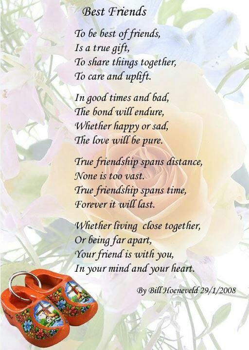 Best Friends By Bill Hoeneveld Best Friend Poems Friendship Poems Friend Poems