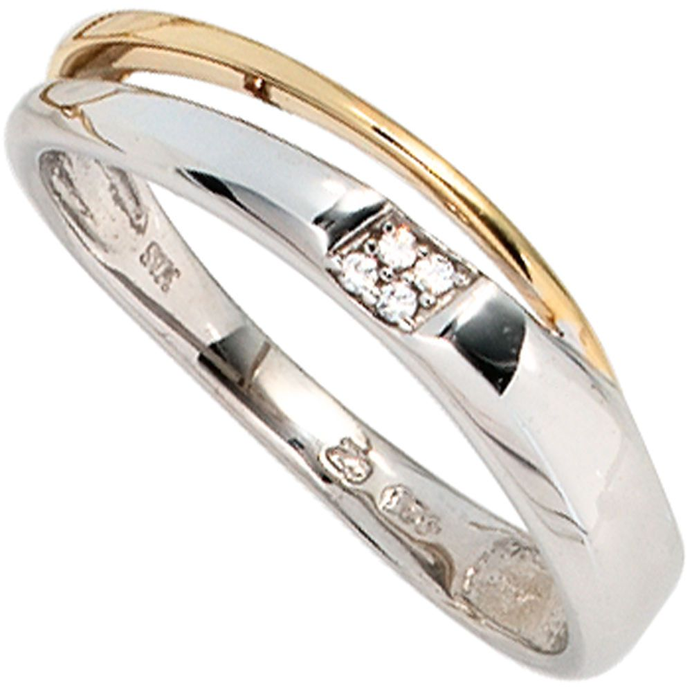 Damen Ring 585 Gold Weißgold Gelbgold 4 Diamanten Brillanten 0,02ct. A50520 58 http://www.ebay.de/itm/Damen-Ring-585-Gold-Weissgold-Gelbgold-4-Diamanten-Brillanten-0-02ct-A50520-58-/161841632418?ssPageName=STRK:MESE:IT