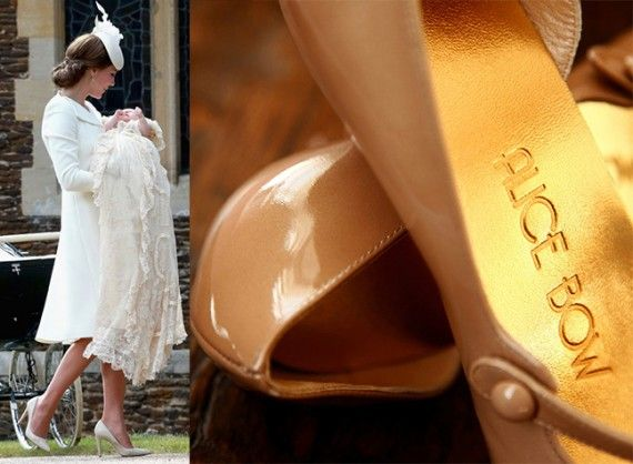 This week it was revealed that the Duchess lines her favourite heels with a set of £13 Alice Bow insoles. Constructed from Italian leather and sheepskin, they combine exceptional grip with optimum comfort. This explains how Catherine climbed a small hill at Princess Charlotte's Sandringham christening in 4-inch heels without losing her footing.