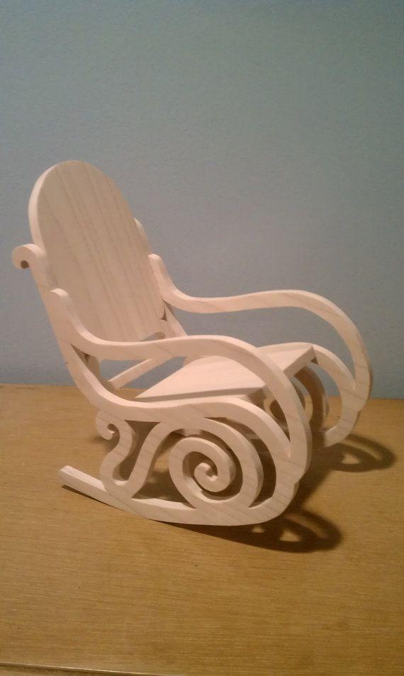 Barbie Sized Rocking Chair Rocking Chair Chair Doll