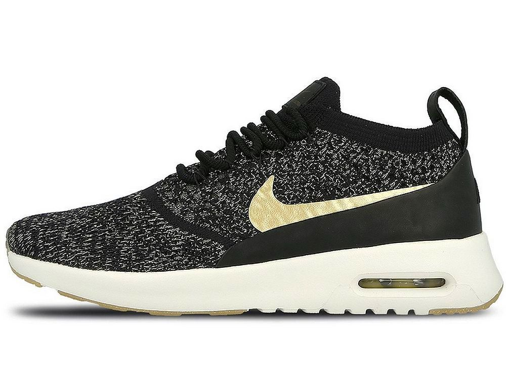 size 40 abc1e 5ceac NIKE METALLIC PACK WOMENS AIR MAX THEA ULTRA FLYKNIT Black ...