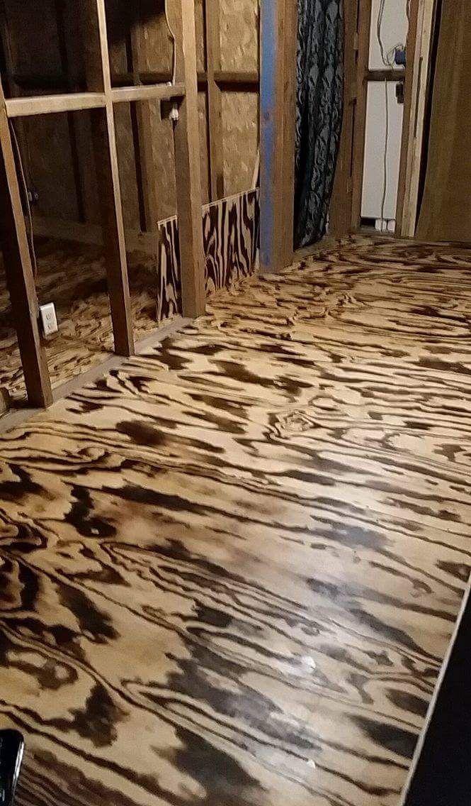 Torched Plywood Floors Burnt Plywood Floor Wood Floor