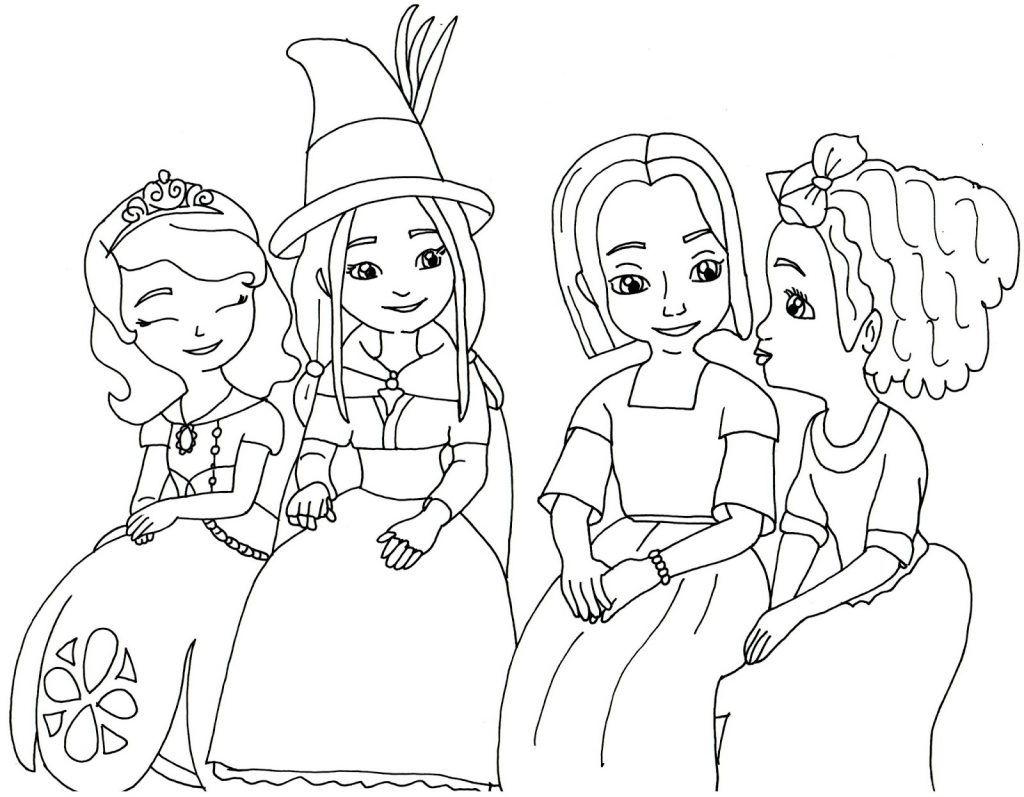 Desenhos Para Colorir Princesa Sofia 1