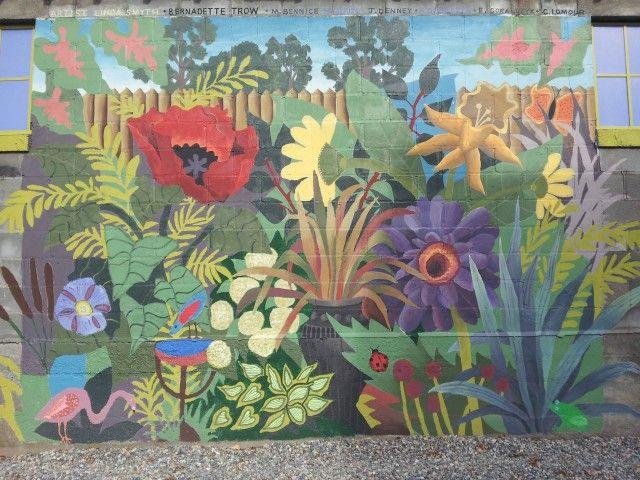 the garden murals - Bing images | Backyard Wall Murals | Pinterest