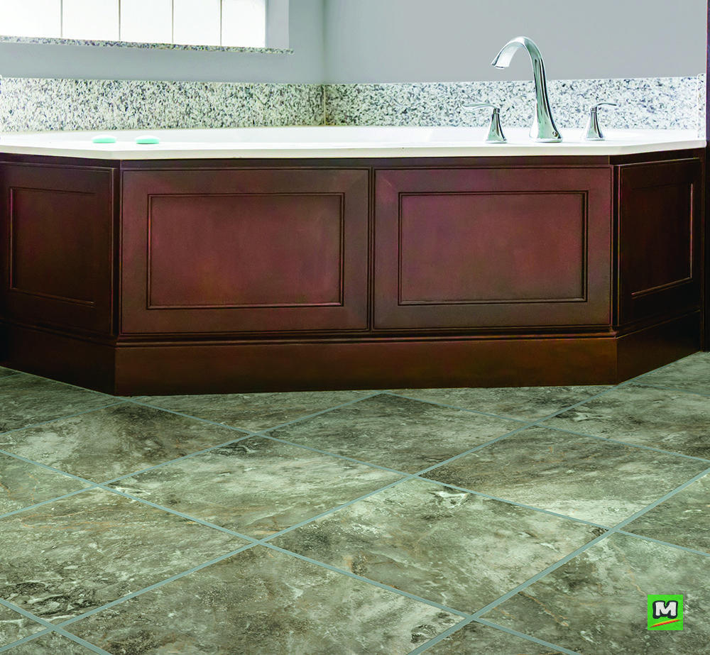 Designers Image™ Platinum Groutable L Series vinyl tile in
