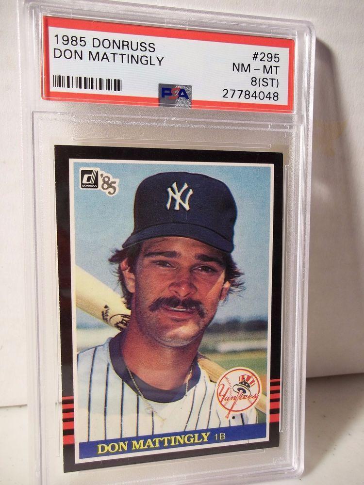 1985 Donruss Don Mattingly Psa Nm Mt 8 Baseball Card 295 Mlb Collectible Newyorkyankees Baseball Cards Don Mattingly Baseball