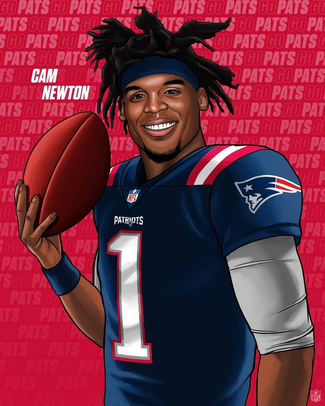 Nfl On Instagram The Patriots New Qb Cameron1newton In 2020 New England Patriots Football Nfl Football Pictures Patriots Football