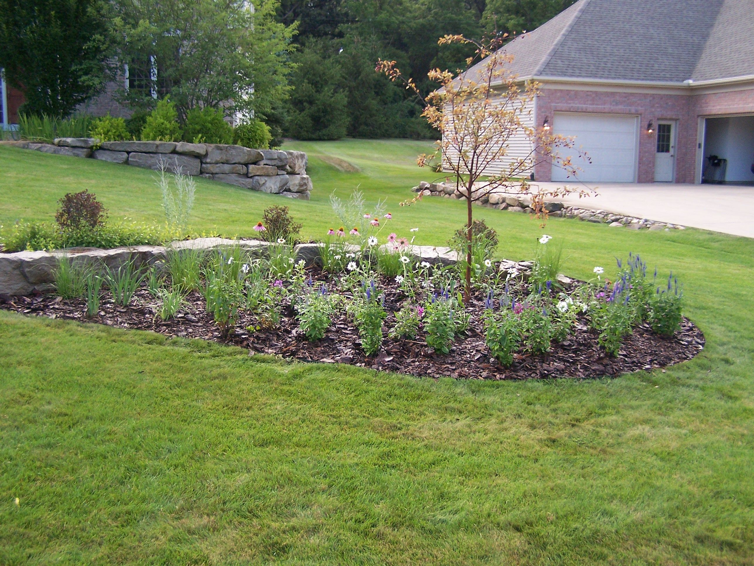 Farm Landscape Design Ideas - Rocks Boulders In Landscaping Il