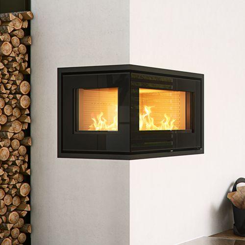 Kitchen With Corner Stove: Rais 500-2 Wood Burning Corner Cassette Stove