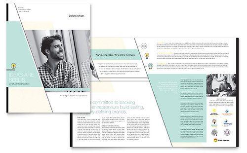 Venture Capital Firm - Brochure Template Typography \ Design - powerpoint brochure template