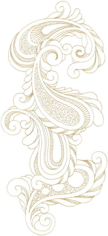 Patrón para bordar a mano - Ondas Libres 00001 | bordar | Pinterest ...
