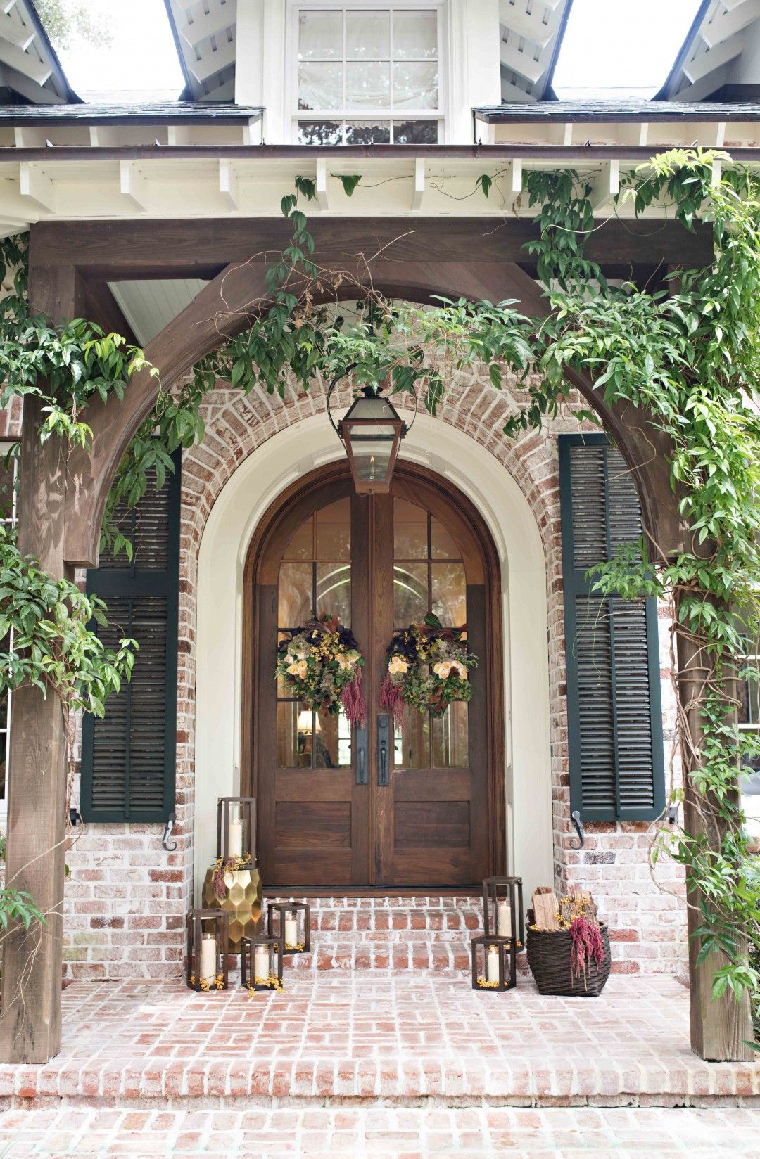 Front Door Inspiration House Front White Wash Brick
