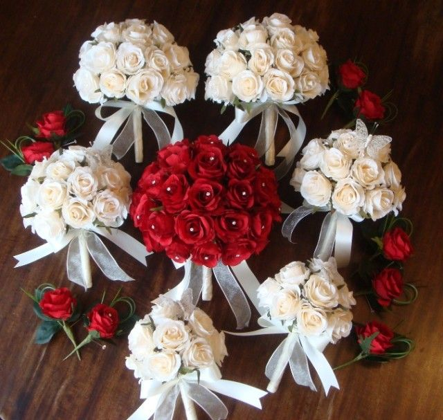 Wedding Bouquets Red And Cream Google Search