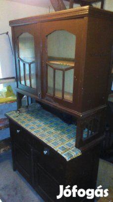 Eladó Antik konyhabutor, paraszt asztal, tükrös komód: Antik tömör ...