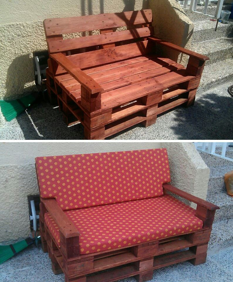 Sillon hecho con palets Palets Pinterest Sillones hechos con