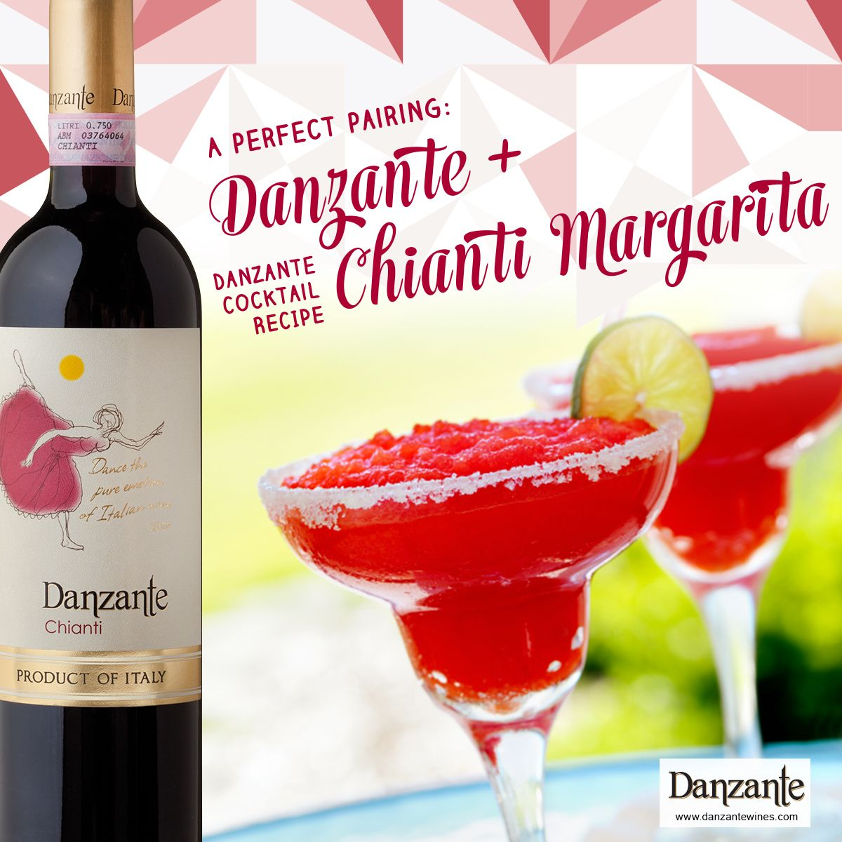 Danzante Chianti Margarita Recipe Wine Cocktail Recipes Margarita Margarita Cocktail