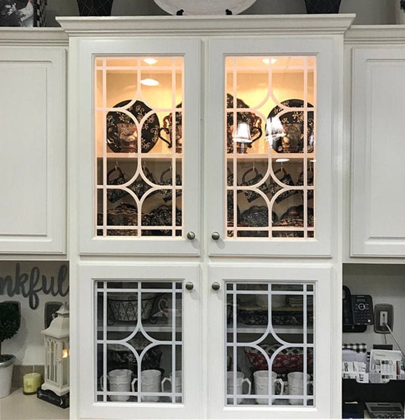 Mullions Glass Overlay Mullion Insert For Kitchen Cabinet Etsy In 2020 Glass Cabinet Doors Glass Kitchen Cabinets Glass Door