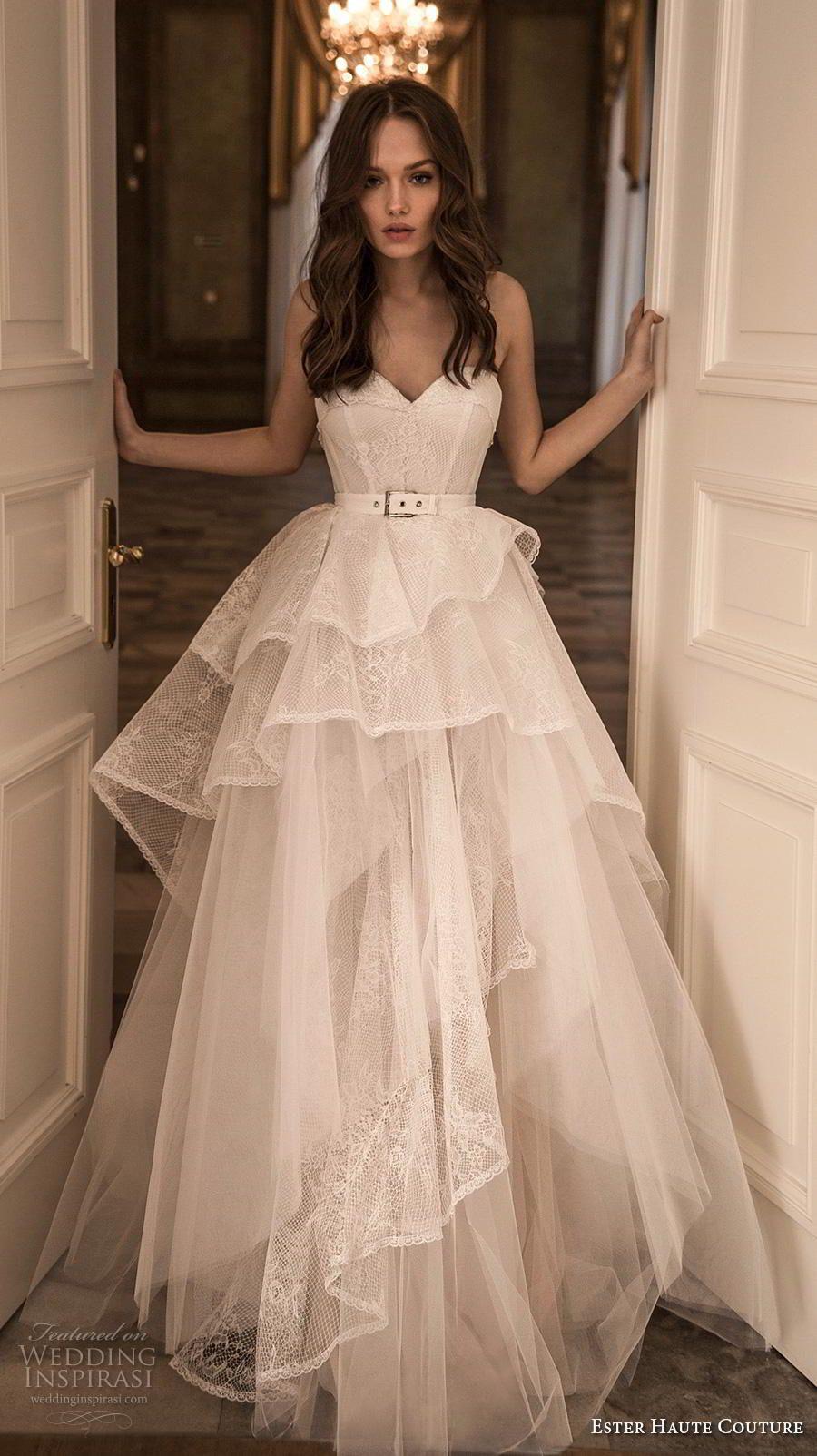 Ester Haute Couture 2018 2019 Wedding Dresses Wedding Inspirasi Bridal Gowns Wedding Dresses Strapless Fancy Dresses