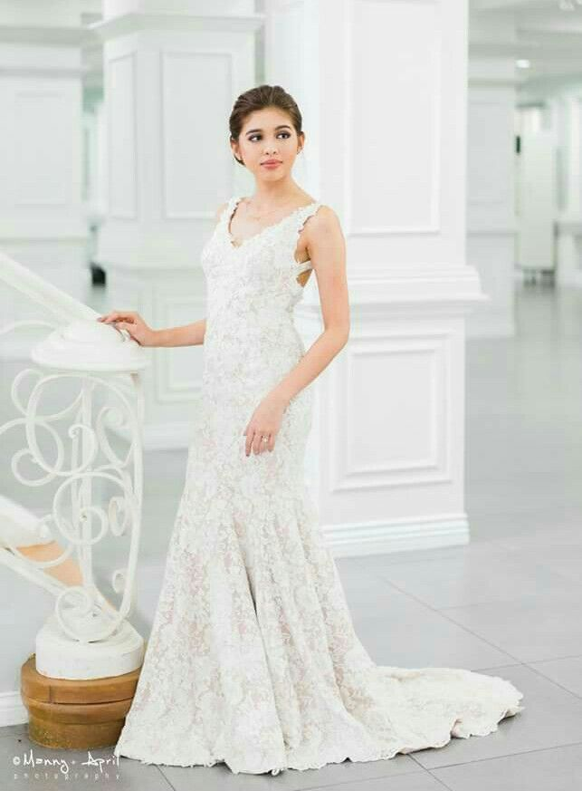 Pin By Queen Haya On Maine Mendoza Wedding Dresses One Shoulder