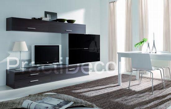 Ideas de modelos de amoblamientos modulares para sala tv audio ...