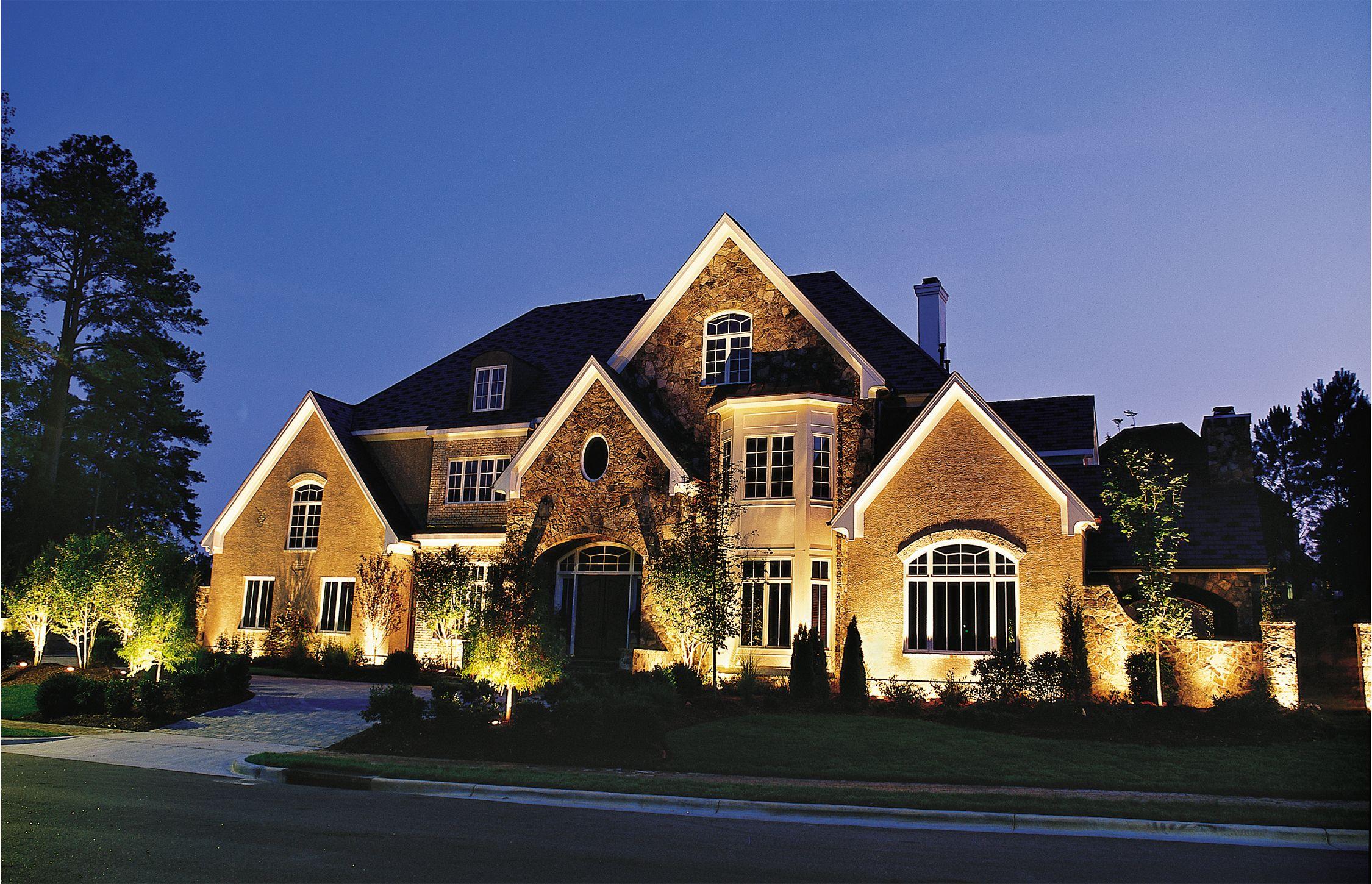 house down lighting outdoor accents lighting garage door