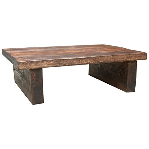 Funky Chunky Furniture Rustic Chunky Wood 2 Leg 2in Top Coffee Table