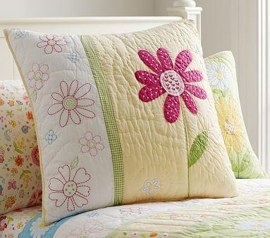 Daisy Garden Quilt Pillows Quilted Pillow Pink Quilts