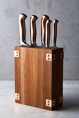 House Home Favorites Furniture Copper Knife Set Knife Block