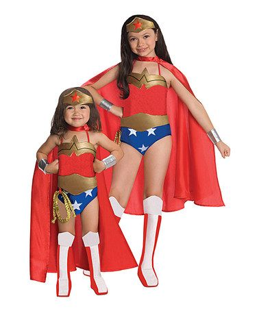 Another great find on #zulily! Deluxe Wonder Woman Dress-Up Set - halloween costume girl ideas