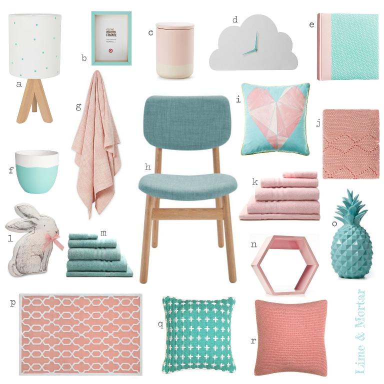 Lime & Mortar: Colour Pop: Pink & Aqua