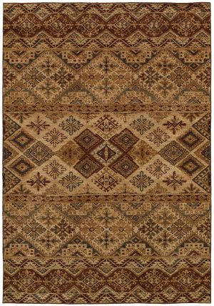 Rugstudio Presents Rizzy Bellevue Bv3992 Brown Machine Woven Good Quality Area Rug