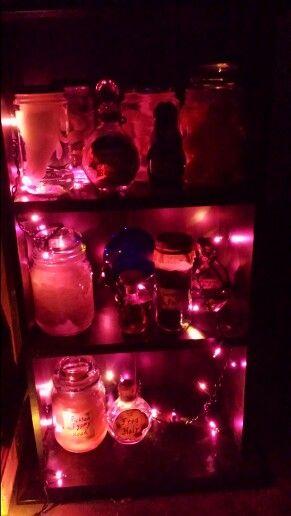 Alchemy shelf in my mad scientist laboratory Halloween Props and - mad scientist halloween decorations