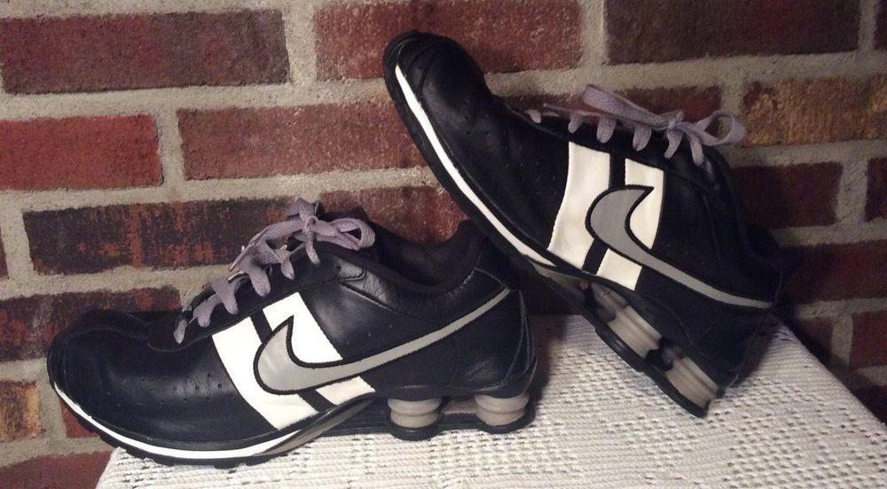 pretty nice c295c 94263 Men s Nike Classic Shox Leather Shoes Size 11 Black White VINTAGE  309354-003 GUC