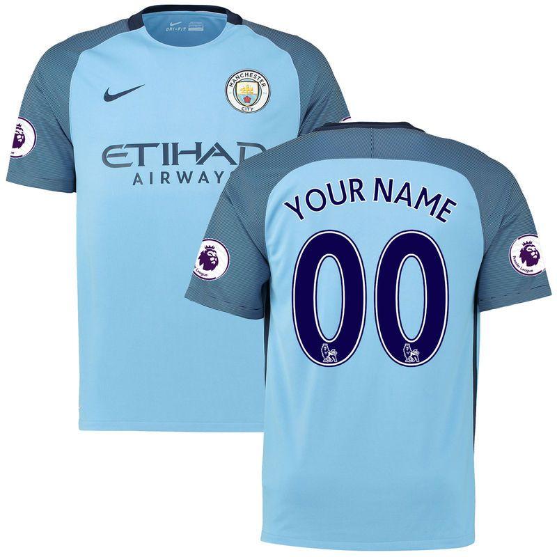 best loved e0ff2 1fc05 Manchester City Nike 2016/17 Home Replica Custom Patch ...