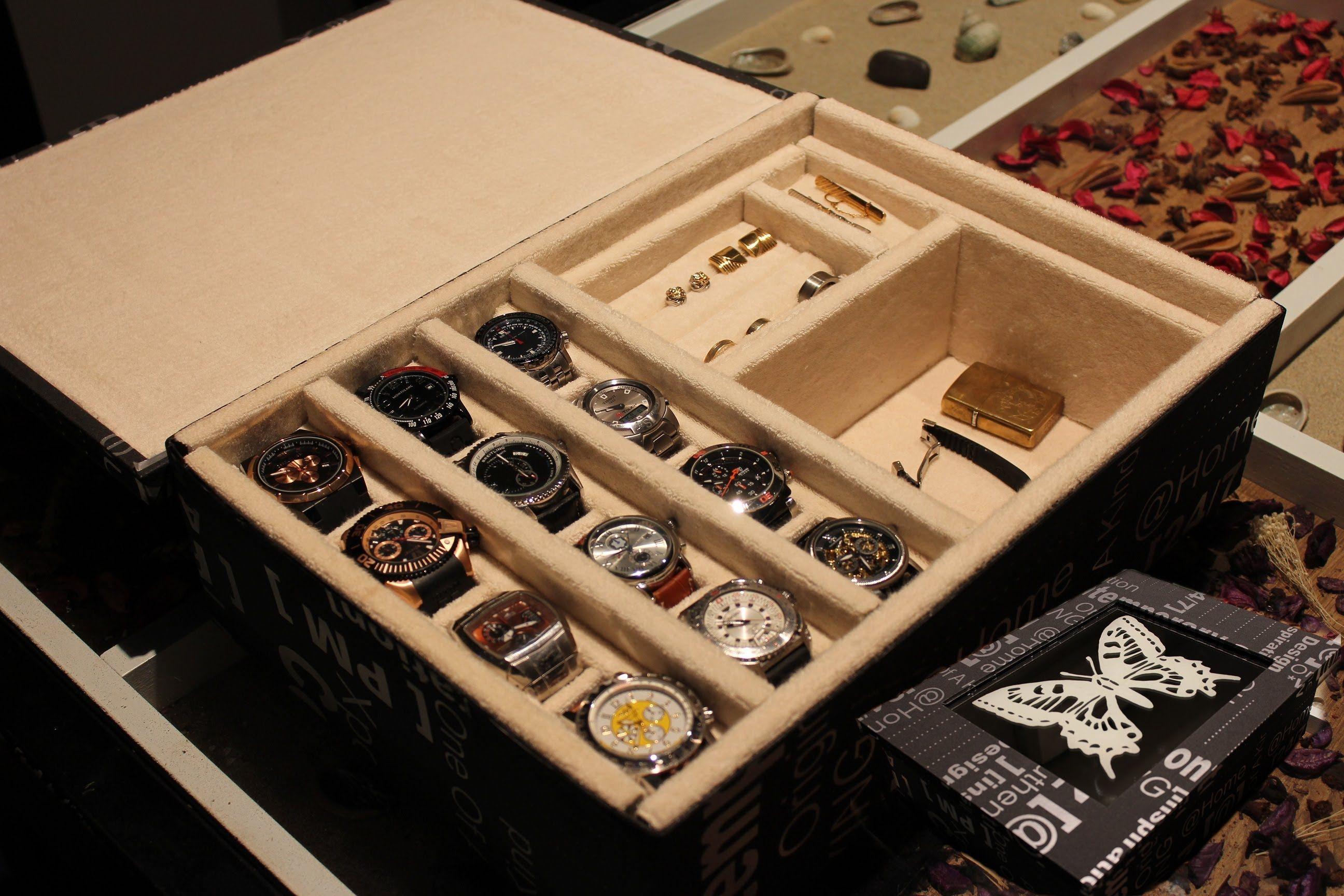 528bd617e317 AQL COMO HACER relojero o joyero para relojes. Caja De Madera Para Reloj