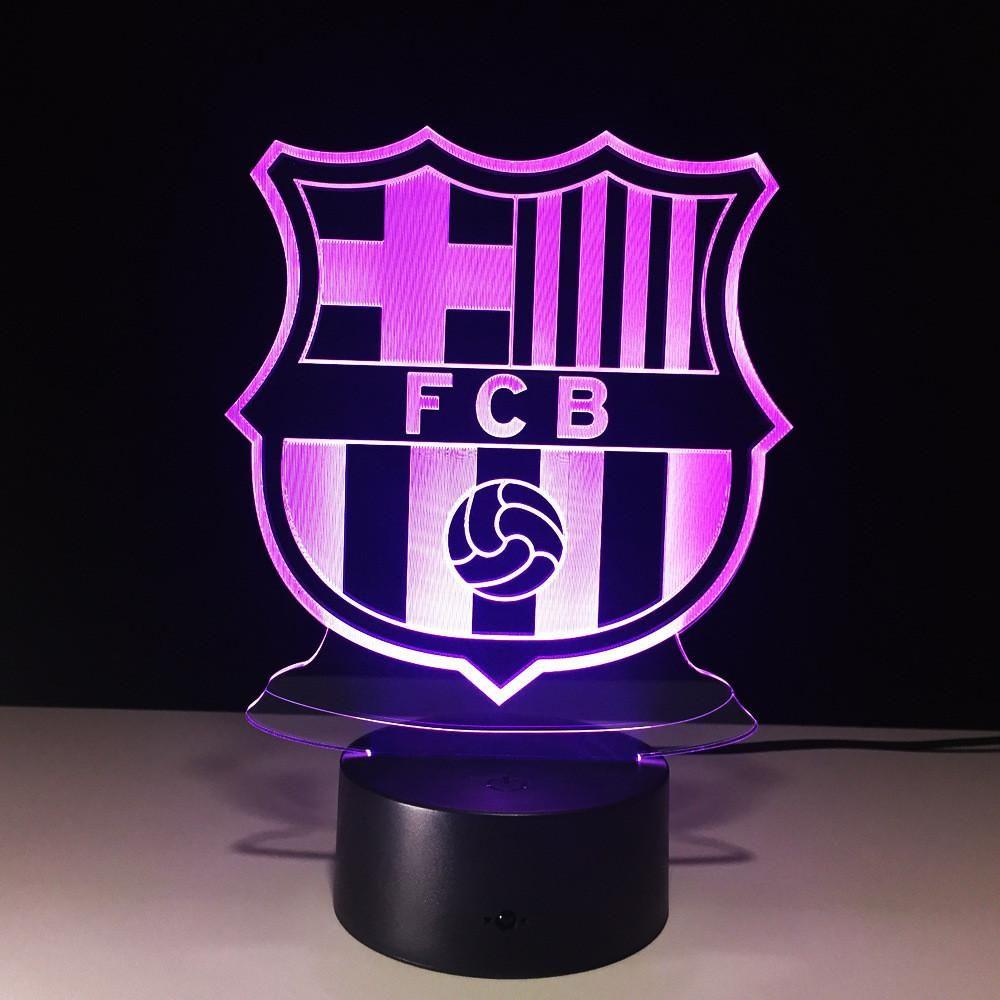 3d Led Lamp Touch Sensor Football Fcb Night Light Soccer Sport Fans Gift Led Luminaria 3d Led Lamp Touch Sensor Football Fcb Led Night Light Lamp Night Light