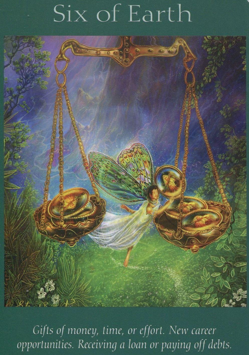 Angel tarot cards six of earth angel tarot cards