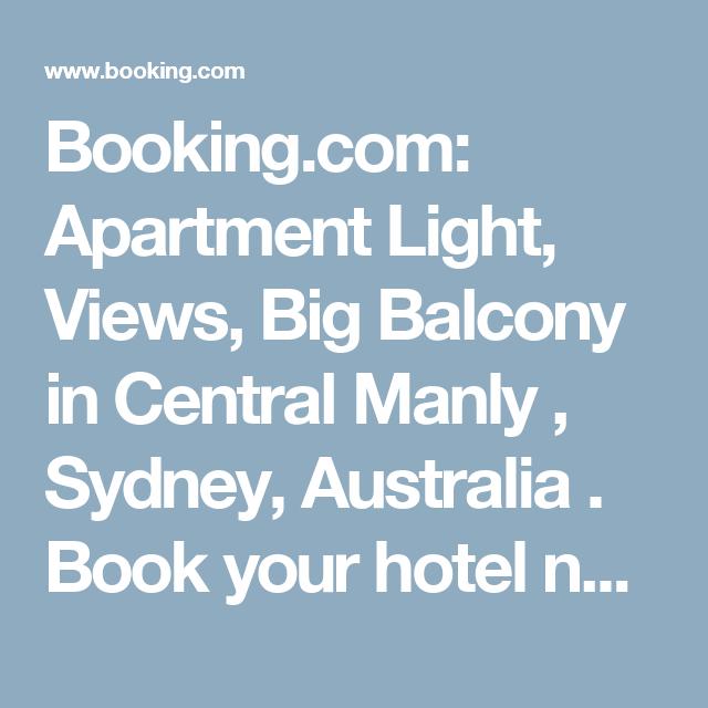 Booking.com: Apartment Light, Views, Big Balcony In