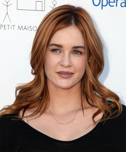 Ambyr Childers Long Straight Copper Red Hairstyle Red Copper