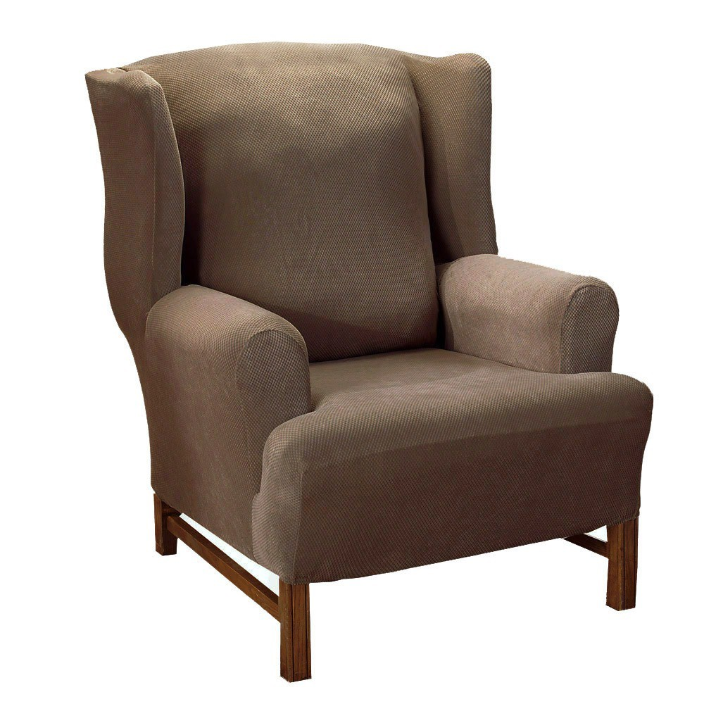 Sure Fit Stretch Pique Wing Chair Slipcover Slipcovers