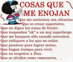 Mafalda Enojada Enojo Enojada Frases Y Frases Positivas